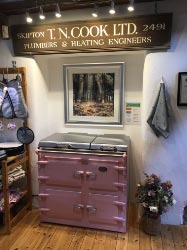 Dusky Pink Everhot 100i Electric Range Cooker